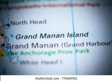 Grand Manan Island. Canada on a map.