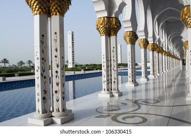 Grand mosque islamic ornaments in Abu Dhabi,United Arab Emirates