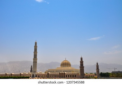The grand mosque of Sultan Qaboos in Muscat, Oman