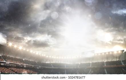 Grand multisport arena background 3d render