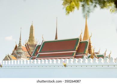 Grand palace at afternoon in Bangkok, Thailand