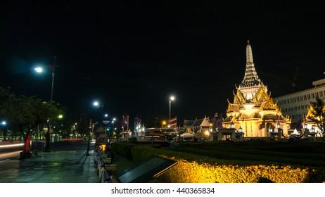 Grand Palace at Bangkok in twilight time, Thailand