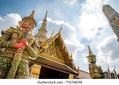The Grand Palace or Wat Phra Kaew Temple of The Emerald Buddha, Bangkok, Thailand