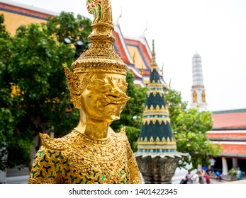 The Grand palace and Wat phra keaw in Bangkok, Thailand, May 2019