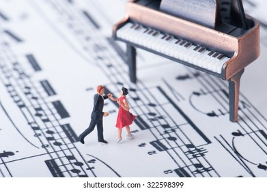 Grand piano and dancer