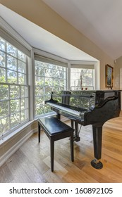 Grand Piano in a living room of a luxury house.