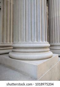 Grand pillars, concrete, tall, foundation
