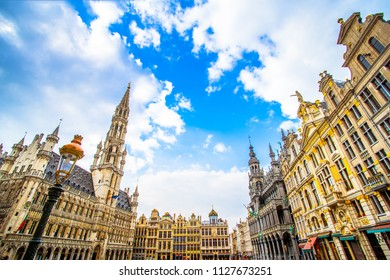 Grand Place (Grote Markt), the central square of Brussels and is one of the most beautiful central square in Europe, UNESCO World Heritage Site since 1998, Brussels, Belgium