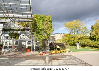 GRAND RAPIDS, MI / USA - OCTOBER 15, 2017:  The Frederik Meijer Gardens and Sculpture Park, shown here, has hosted over ten million visitors.