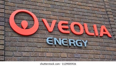 GRAND RAPIDS, MI / USA - OCTOBER 15, 2017:  Veolia, whose Grand Rapids energy office is shown here, is a sustainability consulting company.