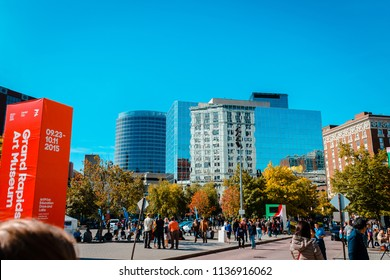 Grand Rapids, MI / USA - October 10th 2015: Downtown Grand Rapids during Artprize