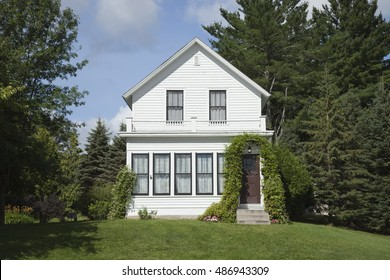 GRAND RAPIDS, MINNESOTA, USA - AUGUST 6, 2016: The birthplace of film legend Judy Garland, star of the Wizard of Oz. Judy lived in this home till she was four years old.