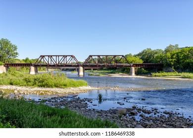 The Grand River in Brantford, Ontario, Canada