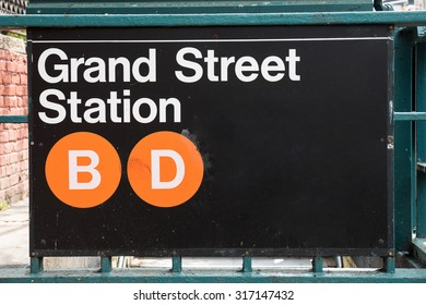 Grand Street subway station in New York City.