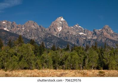 The Grand Teton Mountain Range