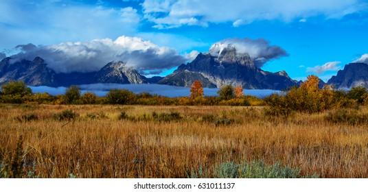 Grand Teton National Park autumn Wyoming USA