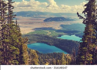 Grand Teton National Park, Wyoming, USA.Instagram filter.