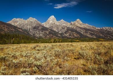 Grand Teton Range in Autumn -- in Grand Teton National Park in Wyoming