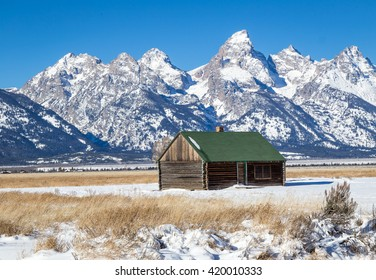 The Grand Teton in winter.