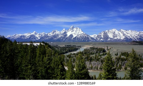 Grand Tetons from the Ansel Adams Snake River Overlook