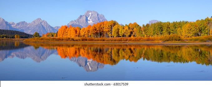 Grand tetons national park from Oxbow bend
