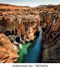 A grand view of Bourke's Luck Potholes Sept 2017 South Africa