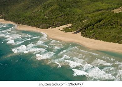 Grande Anse beach - St Lucia, Caribbean (west Indies)