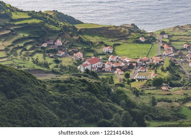 Fajã Grande, Flores island. Azores, Portugal