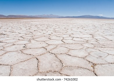 Grande Salinas, salt flats, in the Andes Mountain Range, Argentina