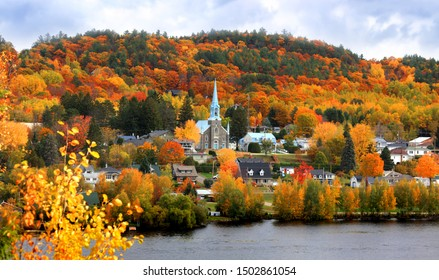 Grandes Piles town  in Quebec, Canada