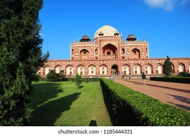 Grandeur of Historical monument Humayun's Tomb at New Delhi, India, Asia