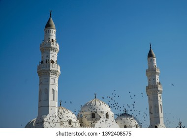 The grandeur of the Quba mosque, Medina, Saudi Arabia.