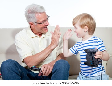 grandfather child game console