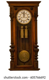 Grandfather clock isolated