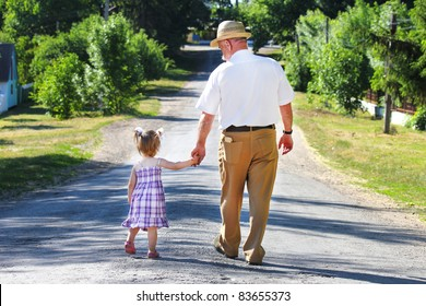 Grandfather and granddaughter