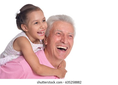 Grandfather and little granddaughter