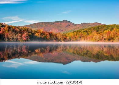 Grandfather Mountain, North Carolina, USA on Price Lake in autumn.