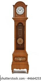 Grandfather's clock on white background