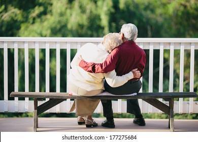 Grandma and Grandpa Sitting on Porch