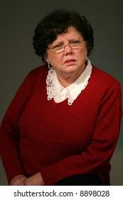 Grandma posing