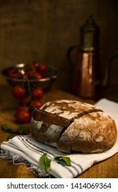 Grandmather's handmade bread at the village