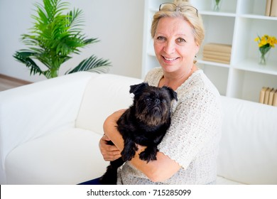 Grandmother with a dog