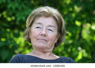 Grandmother in garden
