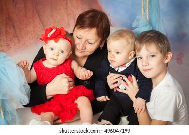 Grandmother with grandchild, family portrait