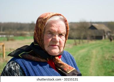 Grandmother at her motherland