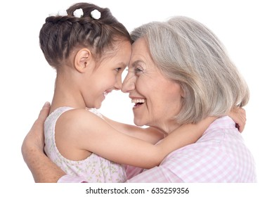 Grandmother and little granddaughter