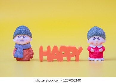 Grandpa and Grandma Dolls and Happy Messages