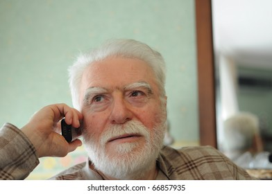 grandpa on phone