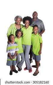 Grandparents and their 4 grandchildren