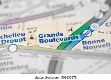 Grands Boulevards Station. 8th Line. Paris. France